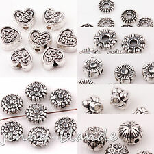 10-50 Tibetan Silver Carved Round Rondelle Loose Spacer Beads Jewelry Finding