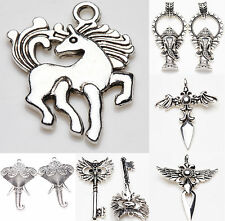 Wholesale Tibet Silver Metal Loose Spacer Charms Pendants Jewelry Making DIY