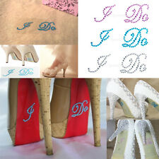 2 Pcs I Do Motif Shoe Stickers Wedding Bridal Shoes Crystal Rhinestone New
