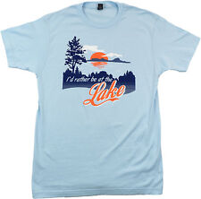 I'd Rather Be at the Lake   Cottage, Boating Summer Lifestyle Unisex T-shirt