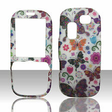 Samsung Gravity 2 SGH-T469 Hard Faceplate Phone Cover Case White Butterflies