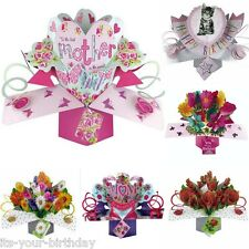 Mum Mother Pop Up Card All Occasions Greeting Cards 18 21 30 40 50 60 70 80