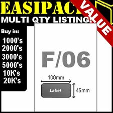Sheets SMP INTEGRATED LABELS STICKY ADDRESS POST PACK PAPER MULTI - STYLE F/06