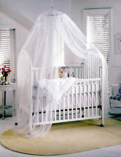 White Baby Cot Bed Canopy Mosquito Net