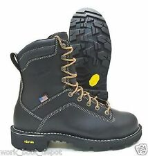 """Danner Mens Black Quarry Safety 8"""" Waterproof USA MADE Leather Boots 17311"""