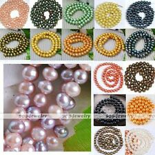 7-8mm Natural Cultured Freshwater Pearl Loose Bead Fit Charm Jewelry Making DIY