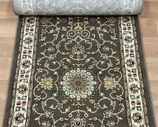 """178564 - Rug Depot Hall and Stair Runner Remnants - 26"""" Wide - Brown Rug Runner"""