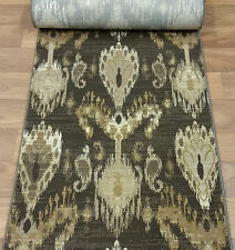 """178569 - Rug Depot Hall and Stair Runner Remnants - 26"""" Wide - Brown Rug Runner"""