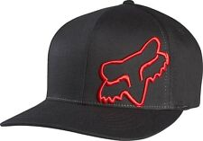 Fox Flex 45FF Cap Hat Black Red Not Flat Peak MX FO58379017