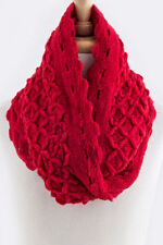 CROCHET SQUARE DESIGN COZY KNIT INFINITY SCARF