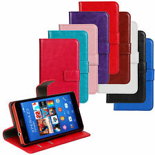 Flip PU Leather Folio Wallet Credit Card Holder Case Cover Stand For Sony Xperia