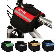 ROSWHEEL Sports Cycling Frame Bike Pannier Bicycle Front Tube Double-Saddle Bag