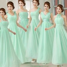 2016 Stock Mint Chiffon Formal Prom Dresses Cocktail Evening Bridesmaid Dresses
