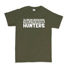All Men Created Equal Hunters Funny Mens T shirt - Hunting Rifle Bow