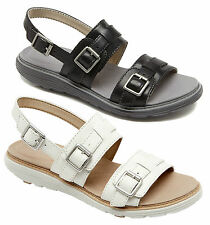 ROCKPORT TRUWALK ZERO TWO BAND WOMENS/LADIES LEATHER COMFORTABLE SANDALS/SHOES