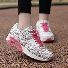 Women Fashion Lace sport Running shoes Gump Comfort Breathable Casual Flats #50