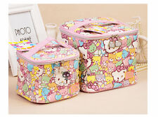 Cute Hello Kitty Bear Portable Cosmetic Bag Makeup Case Lady Girl Women Size M L