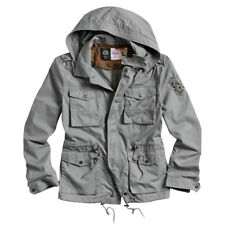 Surplus Military Style Parka Mens Combat Jacket with Hood Cotton Anthracite Grey