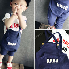 2pcs baby boys girls cotton clothes Clothing Set T-Shirts+Overalls clothing set