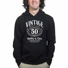 Vintage Aged Mens 50th Birthday Funny Sweatshirt Hoody - Gift for Dad Fathers