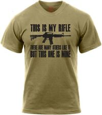 Coyote Brown Marine Corps Rifleman's Creed M4A1 This Is My Rifle USMC T-Shirt