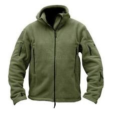Men's Warm Winter Fleece Hoody Coat Zipper Tactical Military Jacket Outwears