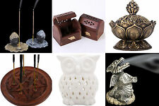 Variety Incense Stick/Cone Holder Owl Oil Burner Lotus Pentagram Buddha Box &