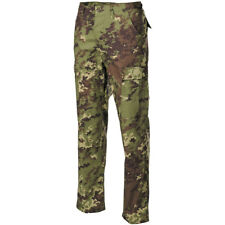 BDU Ripstop Trousers Mens Combat Cargo Pants Italian Army Vegetato Woodland Camo