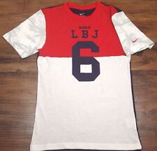 NIKE MENS LBJ LEBRON 4TH INDEPENDENCE DAY USA BASKETBALL SHIRT 687830 100 SM