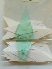 """English Paper Piecing.1 1/4"""" ten pointed star templates or papers or both."""