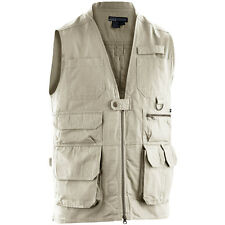 5.11 Tactical Vest Mens Waistcoat Hiking Fishing Hunting 18 Pockets Cotton Khaki