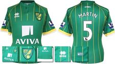*15 / 16 - ERREA ; NORWICH CITY AWAY SHIRT SS + PATCHES / MARTIN 5 = SIZE*