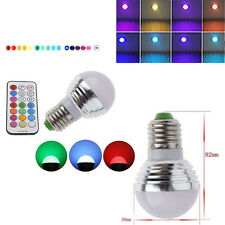 3W RGB E27 Cree/Epistar LED Spot Light Bulb Lamp 16 Color Downlight And Remote