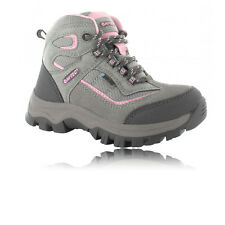 Hi-Tec Hillside Junior Pink Grey Waterproof Walking Trail Outdoors Boots Shoes