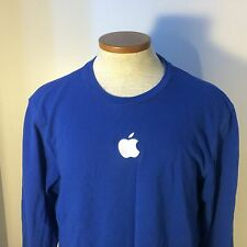 Women's Apple Logo Retail Store Employee T-Shirt Blue Sewn Genius Bar