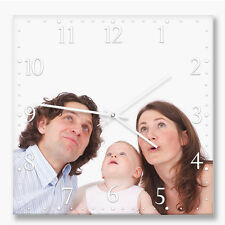 Personalized square wall clock with your photo or image. Your own choice of dial