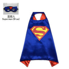 Superhero Cape (1cape+1mask)Superman Batman Iron Man Spidergirl Batgirl for kids