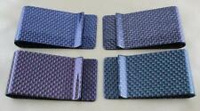 Carbon Fiber RFID Blocking Money Clip Card Holder Protected Cards Genuine W6