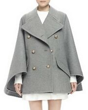 oversized Peak lapels Double-Breasted Cape Coat jacket plus 1x-10x (SZ16-52)G195