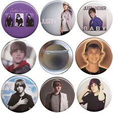 Justin Bieber Set of 8 Pinback Buttons, Magnets or FlatBacks - Pins Badge