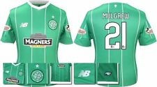*15 / 16 - NEW BALANCE ; CELTIC AWAY SHIRT SS + PATCHES / MULGREW 21 = SIZE*