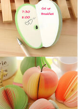 1 Set Cute Sticky Notes Post Creative DIY Fruit Memo Pads Kawaii Stickers Paper