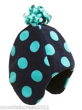 GAP KIDS Girls ~ Fleece Trapper Hat ~ Polka Dot Print ~ Blue L/XL ~ NEW