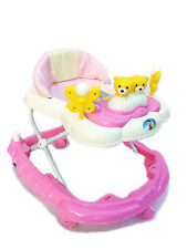 Baby Walker New pink First Steps Baby music melody toys 3 heights light weight