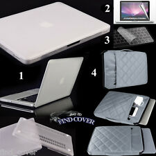 White Rubberized Hard Case Carrying Sleeve Bag Keyboard Cover For Apple Macbook
