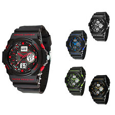 Men Military Sports LED Digital Analog Stopwatch Waterproof Diving Wrist Watch