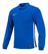 NIKE Dri Fit Soccer Jersey Challenger L/S AUTHENTIC Football Sports Blue Shirt
