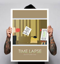 Time Lapse Minimal Movie Poster Print Bradley BP Cooper  Film Sci Fi Indie 180gm
