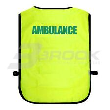 PRINTED AMBULANCE HIGH VISIBILITY TABARD HI VIS VIZ SAFETY WAISTCOAT