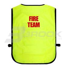 PRINTED FIRE TEAM HIGH VISIBILITY TABARD HI VIS VIZ SAFETY WAISTCOAT